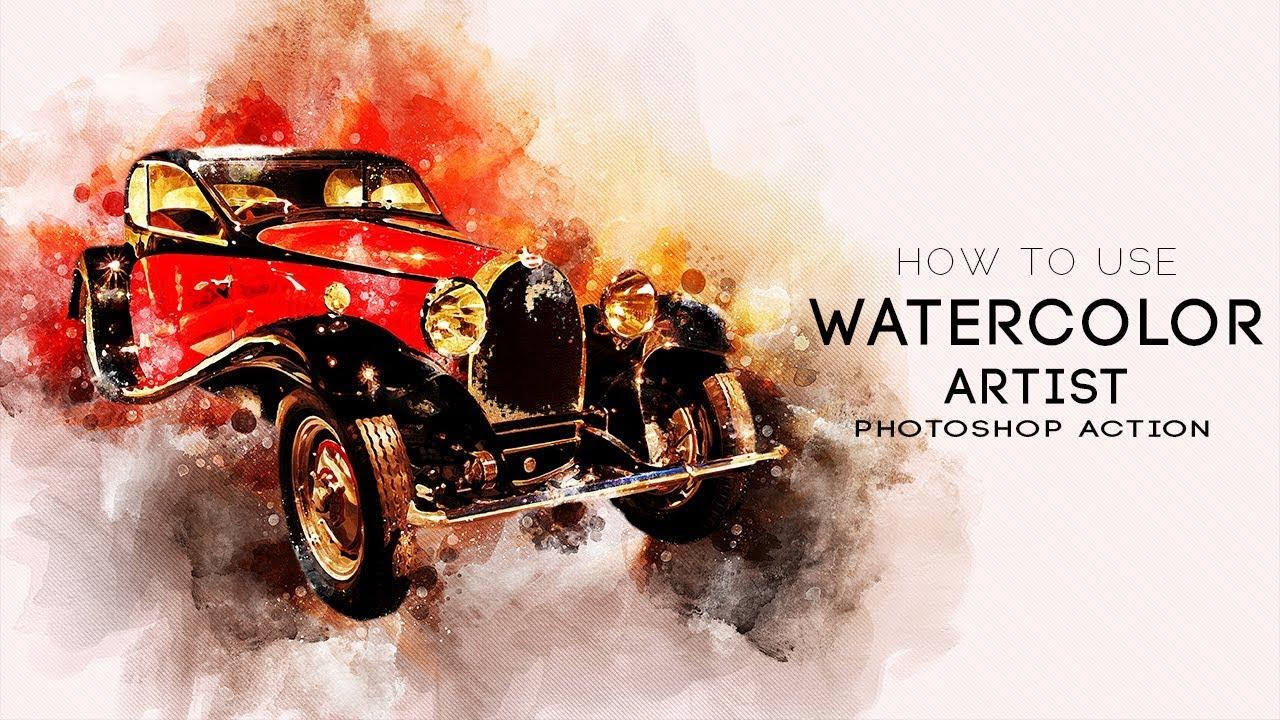 perfectum watercolor artist photoshop action