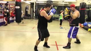 Gary Kopas Training At The Nelson Boxing Gym In Saskatoon