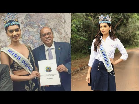 Manushi Chhillar honoured by the parliament of Brazil