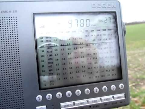 Republic of Yemen Radio, 9780 Khz and // on 6135 Khz, received in Germany on a Degen DE 1103