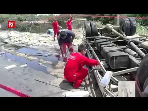 18 killed in Peru highway crash