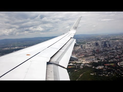 Frankfurt Skyline view on approach RWY 25R