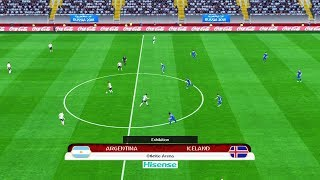 PES | Argentina vs Iceland FIFA World Cup 2018 | Full Match | Gameplay PC