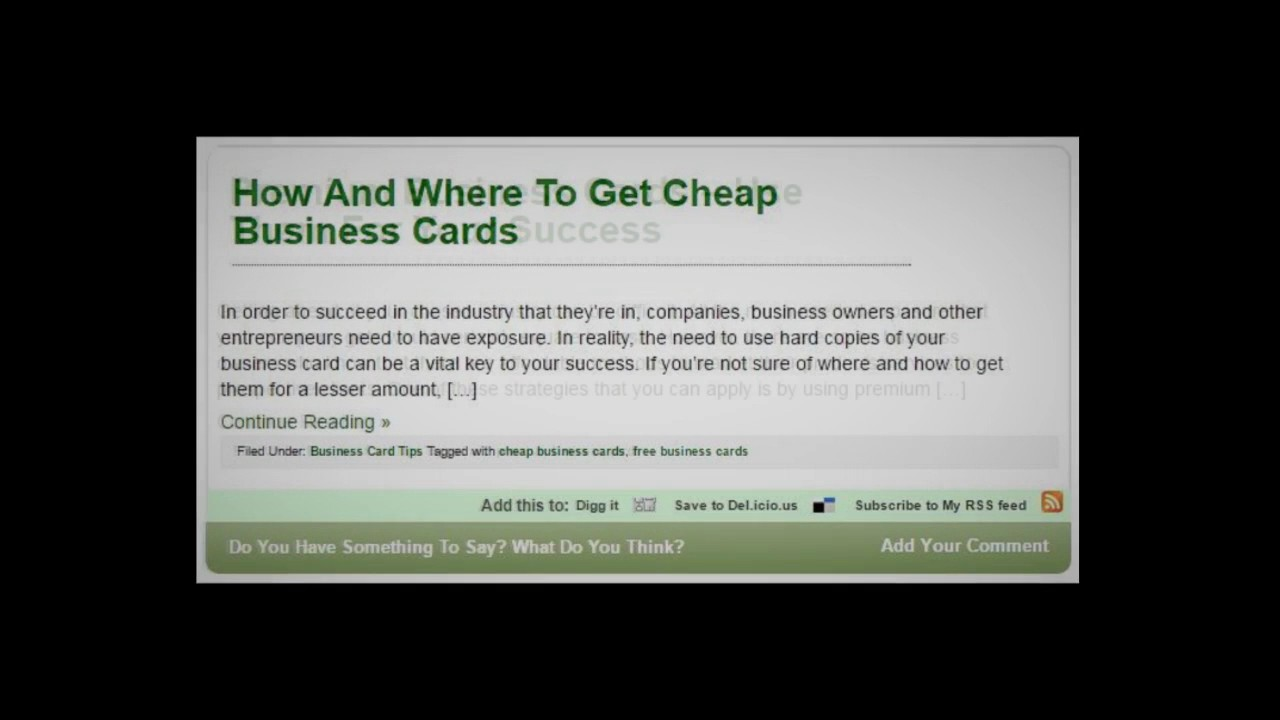 Where to get cheap business cards images free business cards business card tips by verse finance youtube business card tips by verse finance magicingreecefo images magicingreecefo Gallery