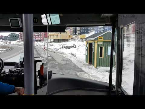 On the bus in Nuuk
