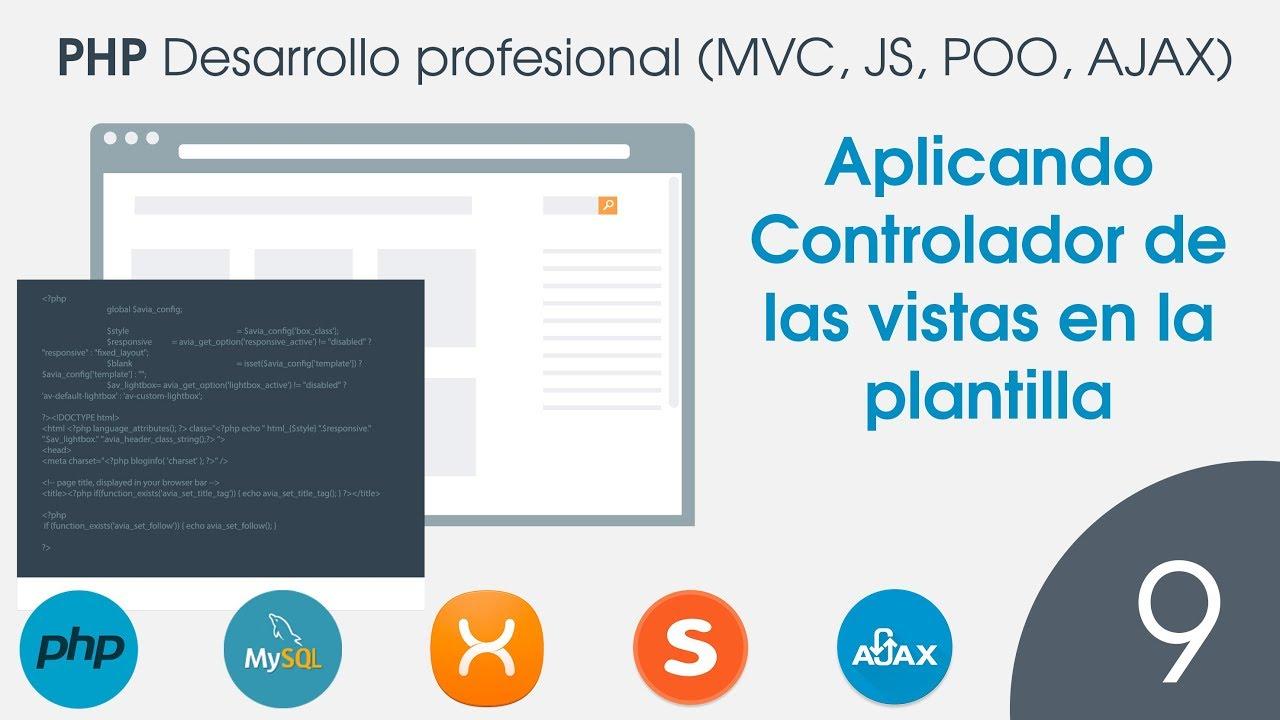 PHP Desarrollo profesional en MVC - 09 Aplicando Controlador de las ...