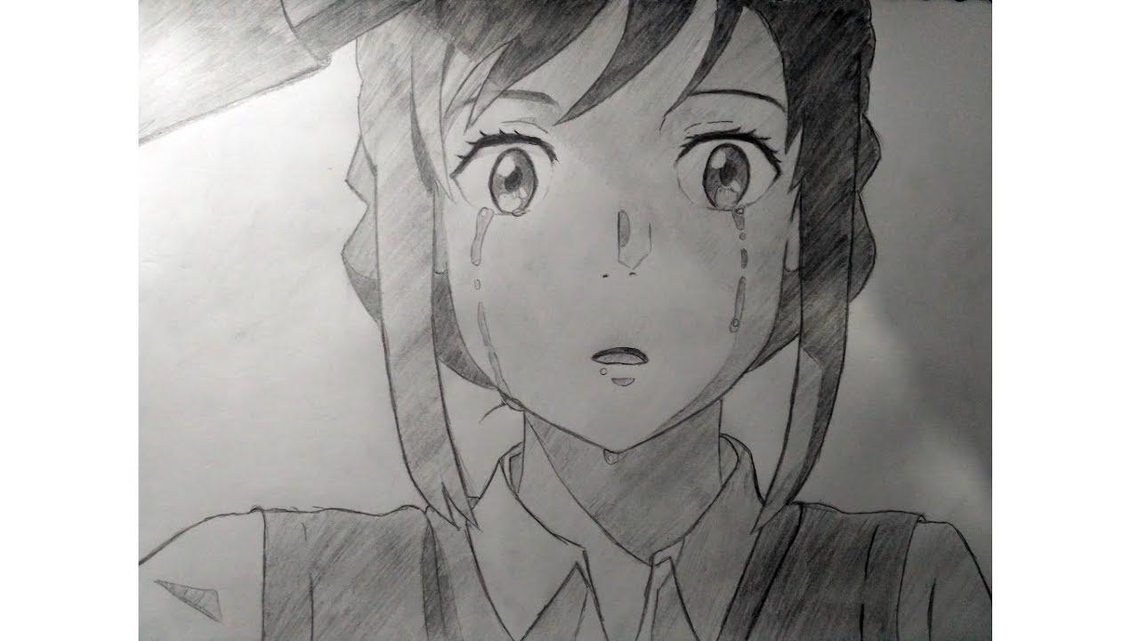 Wow Keren Cara MenggambarDraw Mitsuha Miyamizu Di Anime Kimi No Na Wa Indonesia - YouTube