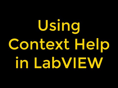 How To Use Context Help In LabVIEW