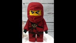лего нинзяго из мастики (LEGO Ninjago Figur aus Fondant, Tutorial )fondant LEGO Ninjago figure