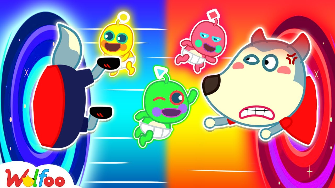 Oh No! Babies Alien Are So Naughty – Wolfoo Kids Stories   Wolfoo Family Kids Cartoon