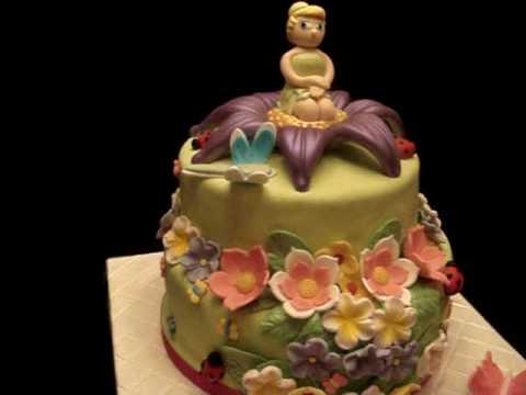 Fairy Themed Fondant Birthday Cake