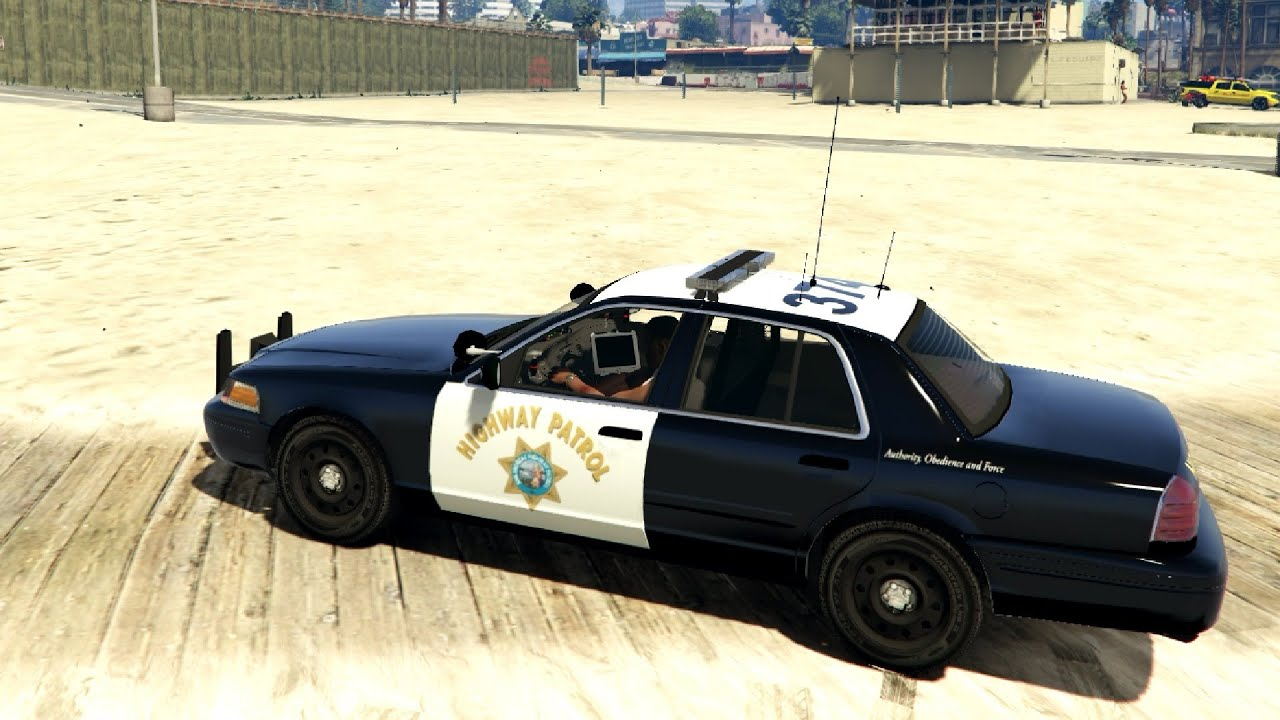 Ford Crown Victoria Police Interceptor San Andreas Highway Patrol   Gta V Youtube