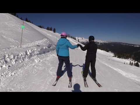 Girls With No Poles Ingrid & Lovely Mt Bachelor February 13th 2018