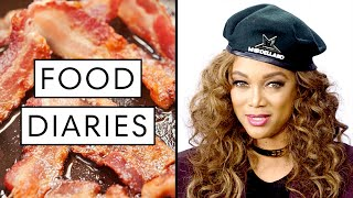 Everything Supermodel Tyra Banks Eats in a Day | Food Diaries: Bite Size | Harper's BAZAAR