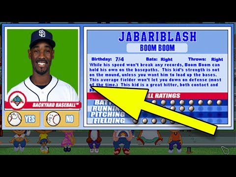 JABARI BLASH IN BACKYARD BASEBALL - Backyard Baseball
