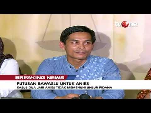 [Breaking News] Putusan Bawaslu Untuk Anies Baswedan