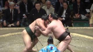 20140514 白鵬vs千代大龍 白鵬万全 大相撲夏場所4日目.