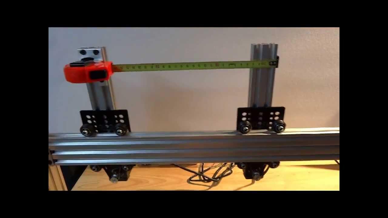 Openbuilds 174 V Slot Belt Amp Pinion System Youtube