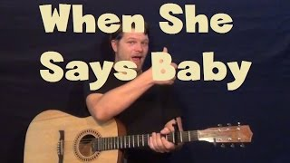 When She Says Baby (Jason Aldean) Easy Guitar Lesson How to Play Tutorial