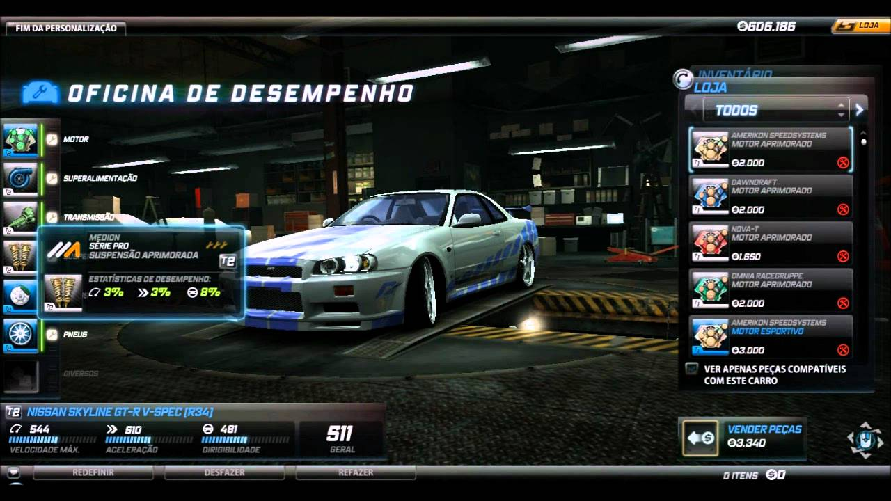 Need For Speed World Skyline Gt R R34 Fast And