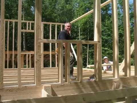 видео: Каркасный дом своими руками. Часть 1.