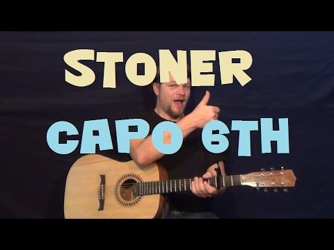 Stoner (Young Thug) Easy Strum Guitar Lesson How to Play Tutorial Capo 6th Fret