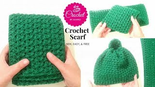 Crochet Scarf for Men #1 Fast New Stitch ☕ The Crochet Shop Exclusive Free tutorials
