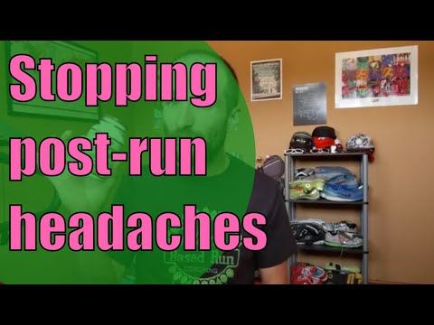 How to prevent headaches after runs.