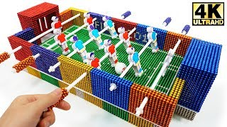 DIY - How To Make Foosball (Table Football) from Magnetic Balls | Magnetic Man 4K
