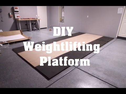 Garage Gym Weightlifting Platform | DIY