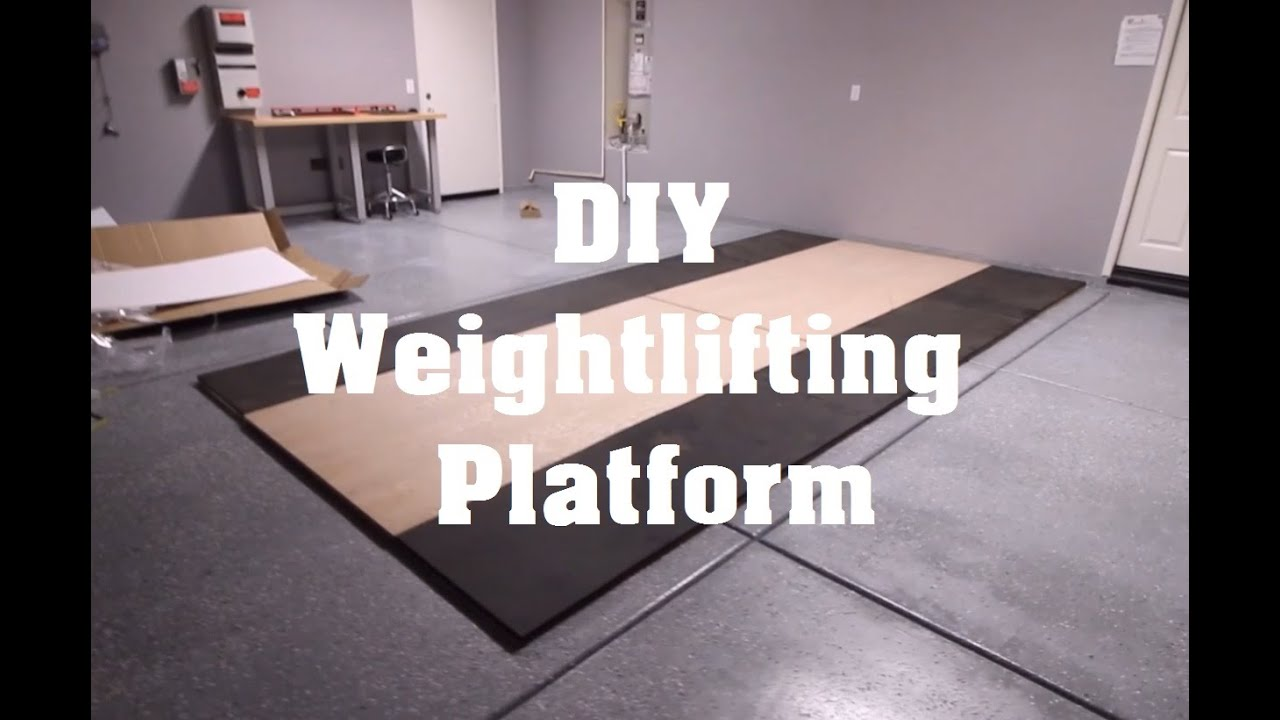 Garage Gym Weightlifting Platform Diy Youtube
