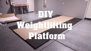 Garage Gym Weightlifting Platform   DIY