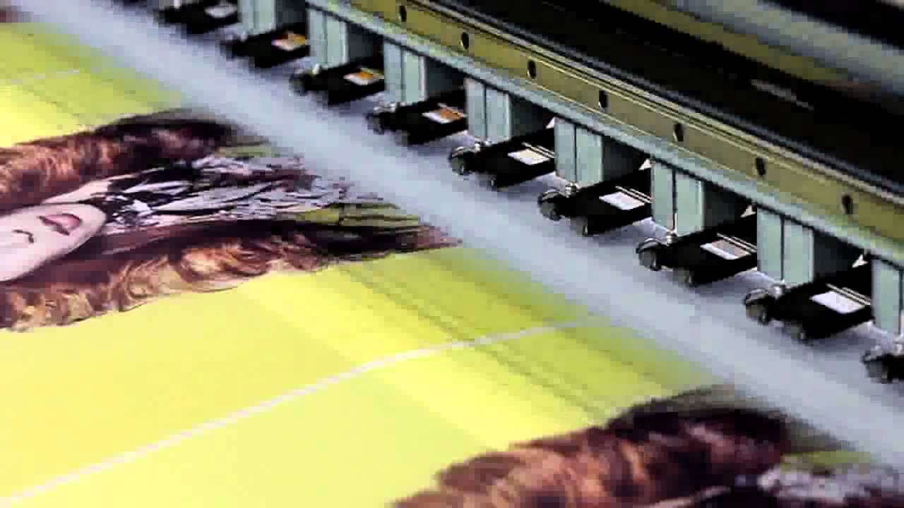 digital printing machine on fabric