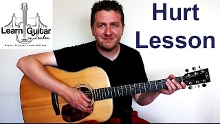 Johnny Cash - Hurt - Acoustic Guitar Lesson - FULL SONG - Drue James