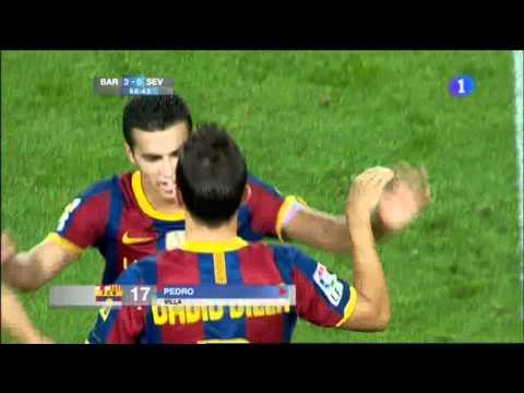 Debut de David Villa con el FC Barcelona thumbnail