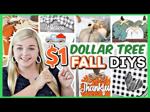 20 Dollar Tree DIYS Perfect For FALL 2021 | BEST DOLLAR TREE DIYS (Not Tacky!) | Krafts by Katelyn