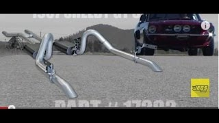 1967-1970 Ford Mustang Performance Exhaust System Kit Flowmaster 17282 817282  Installation Tutorial