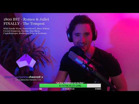 Romeo & Juliet, The Tempest, Cast Party (Shakespeare Charity Stream 18)