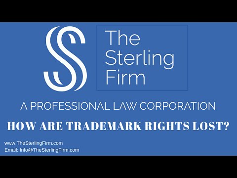 HOW ARE TRADEMARK RIGHTS LOST?
