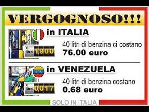 Vivere in Venezuela DOVE LA BENZINA COSTA 1 CENT.DI EURO AL LITRO!