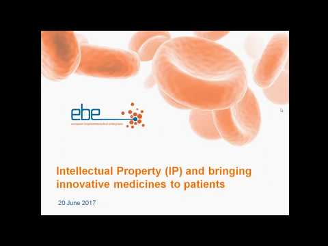 EBE Webinar: IP and its crucial role in bringing innovative medicines to patients