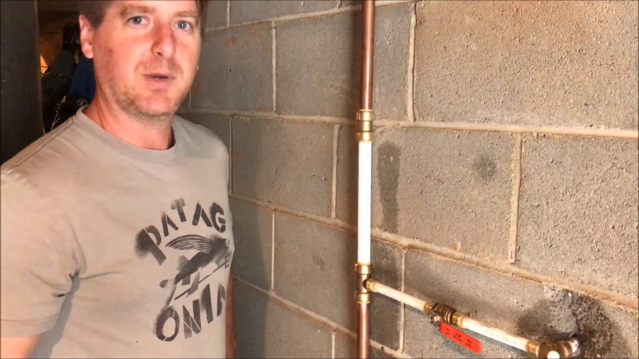 DIY - Outside faucets was leaking - replacement with PEX - YouTube