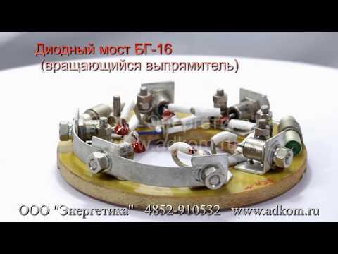 Вращающийся диодный мост генератора БГ-16 - видео