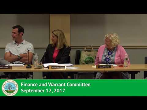 Finance and Warrant Committee - 09/12/17
