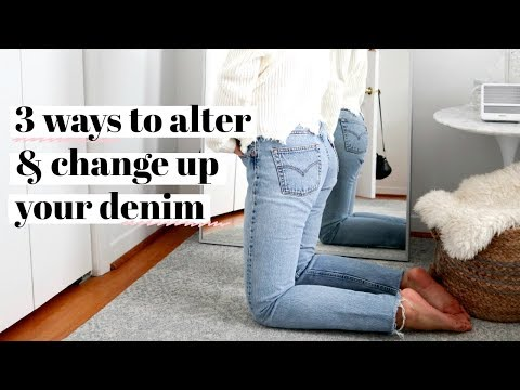 HOW TO DISTRESS  ALTER YOUR OLD DENIM easy!  rachspeed