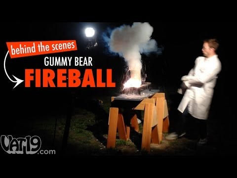 Behind the Scenes: Giant Gummy Bear Fireball