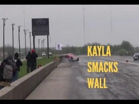 Street Outlaws Kayla Morton SMACKS WALL!
