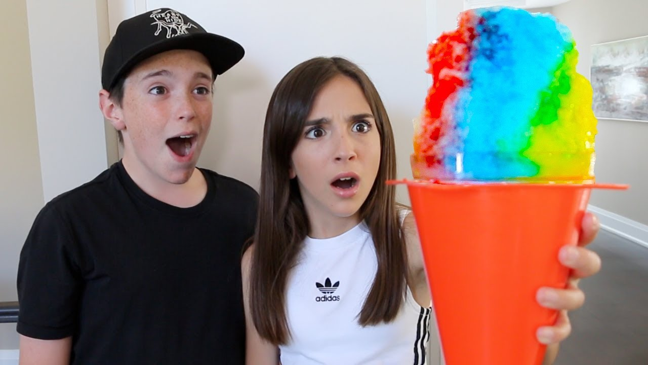 MAKING THE WORLD'S BIGGEST SNOW CONE!!