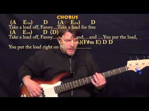 The Weight (The Band) Bass Guitar Cover Lesson in A with Chords/Lyrics