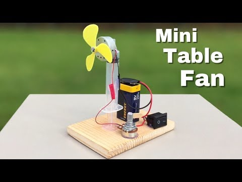 Download Youtube: How to Make Mini Electric Table Fan - Very Powerful